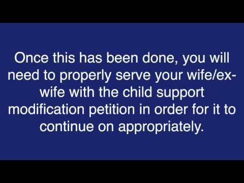 How do I file for a child support modification during a divorce?