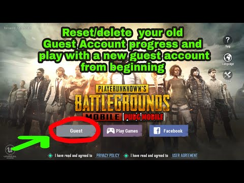 How to reset guest account on pubg mobile