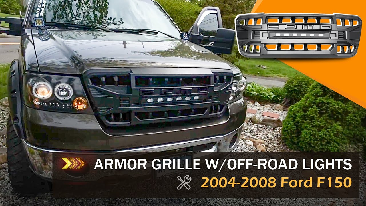 ARMOR GRILLE INSTALLATION FOR 2004-2008 FORD F150   AMOffRoad