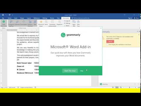 How to install Grammarly for Microsoft Word Check for Grammar and Plagiarism