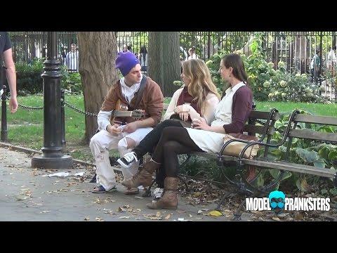 Homeless Man Picks Up Girls By Singing!