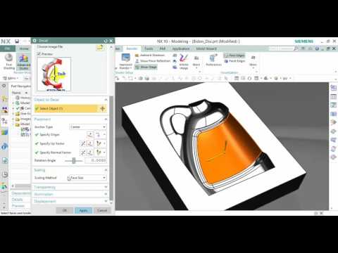 Insert an Image to make Decal in NX 10