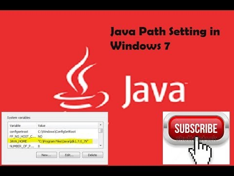 How to install and java path setting in windows 7 32bit