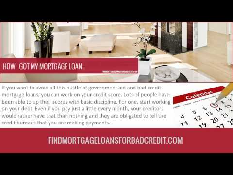 Government Aid for People Applying for Mortgage Loans with Bad Credit.
