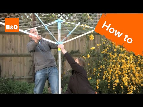 How to install a rotary airer