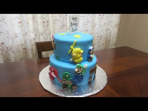 How to make Mario cake charecters