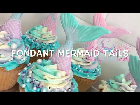 How to make a multi tone fondant mermaid tail