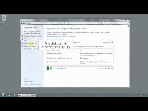 Windows 7 Ultimate 64 bit - How to restore windows firewall settings to default - www.vid4.us