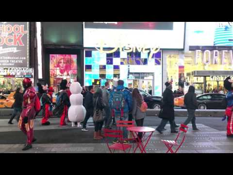 Live Disney  at Time Square New York