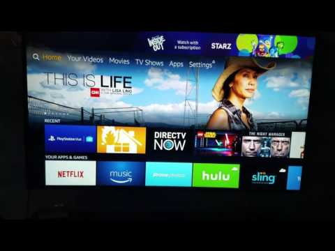 How to clear cache on a amazon firetv for directv now.