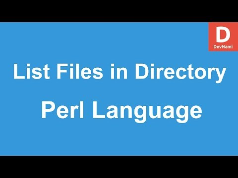 Perl Programming Display All Files in Directory