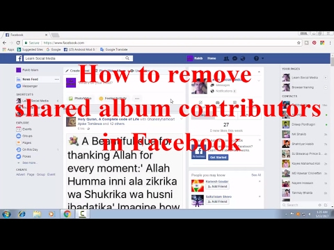 How to Remove Shared Album Contributors in Facebook FB Tips 77