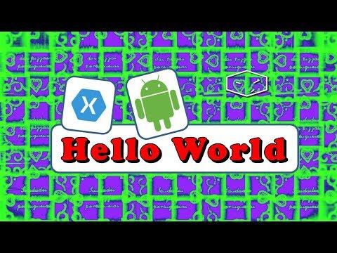 xamarin android hello world