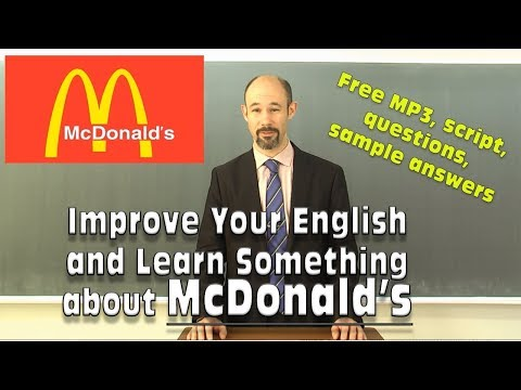 (#17) McDonald's - improve your English - マクドナルド free script, listening questions, essay questions