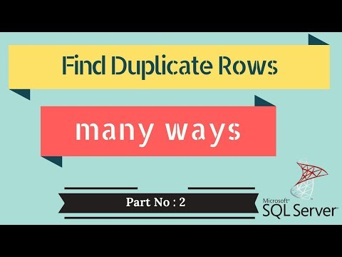 How To - Data Science - MS SQL Server - Finding duplicate records in a table different ways