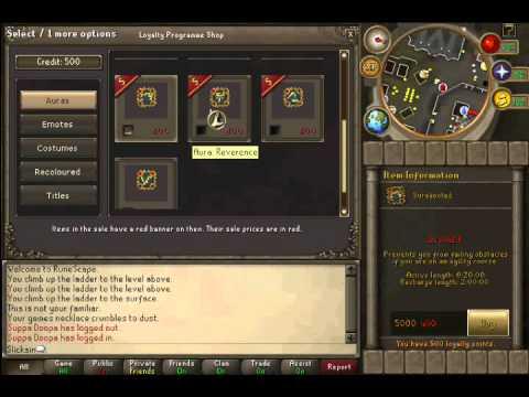 Runescape - Member's Loyalty Points