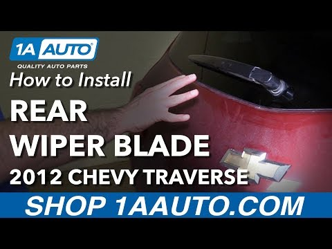 How to Install Replace Rear Windshield Wiper Blade 2012 Chevy Traverse