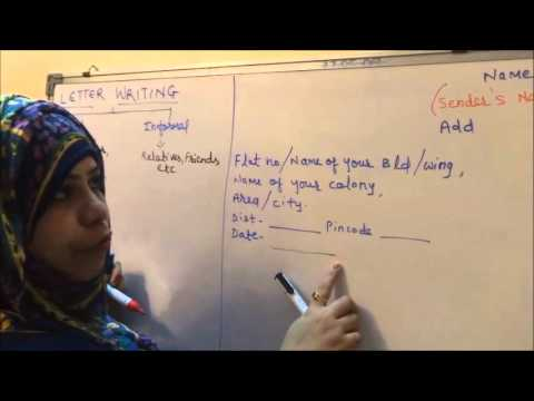 English- How to Easily Write a Letter (Writing Skills #1 )