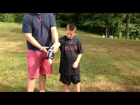Properly Fitting Boys Lacrosse Equipment - Helmet, Gloves, Arm Pads, and Shoulder Pads
