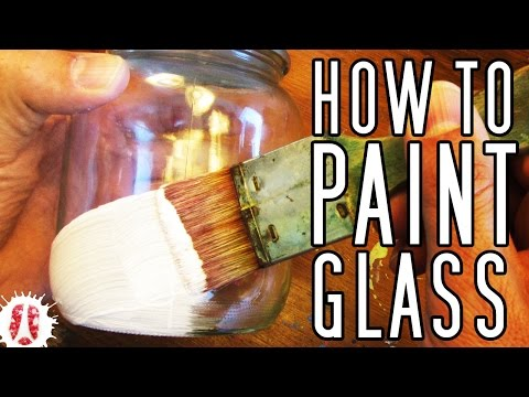 HOW TO Paint On GLASS (Bottles, Pots, Jars, Etc) #Painting #ArtsAndCrafts