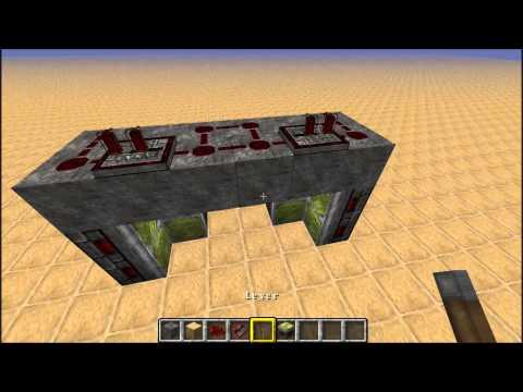 Minecraft 1.7.9 most compact hidden piston door tutorial.