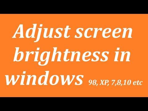 How to adjust brightness on windows 7 starter