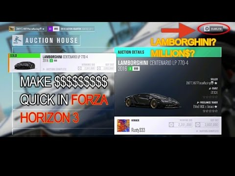 HOW TO MAKE MONEY FAST IN FORZA HORIZON 3