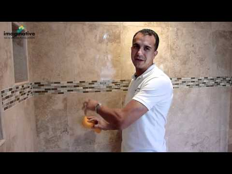 How to Seal grout   Sealer Demonstration