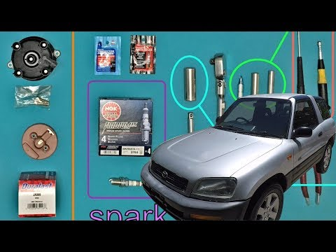 RAV4 tune up: spark plugs, distributor cap, fuel filter, ignition timing (episode 5)