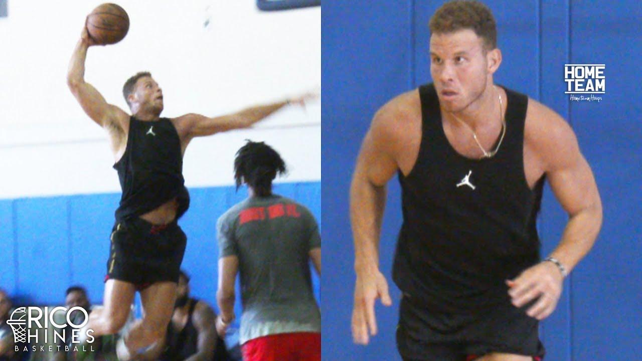 Blake Griffin at Rico Hines UCLA Run! Antonio Blakeney, Pascal Siakam, Jaylen Hands