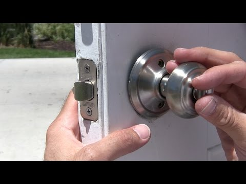 How to change a door knob & dead bolt repair - Schlage vs. Kwikset Exterior