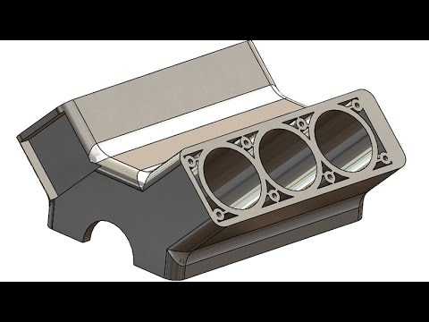 SolidWorks Tutorial #200 car: Engine Block