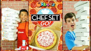 Pizza Challenge with Orbeez Super Fine Crush on Chef Set Go! | Official Orbeez