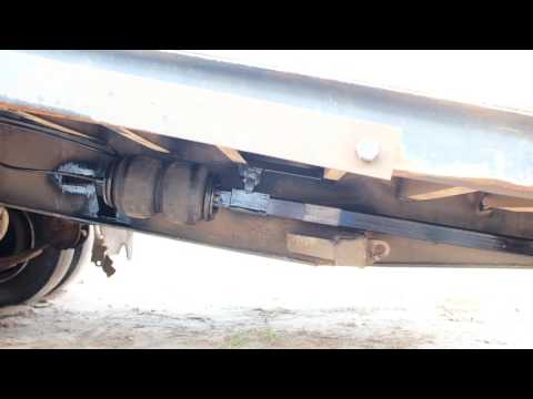 Trailer ramp air lift assist home made