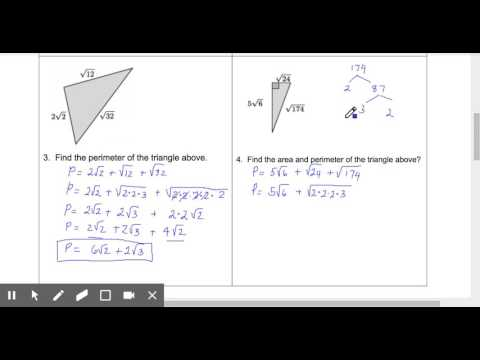 Perimeter of Triangles - radical side lengths - Edited