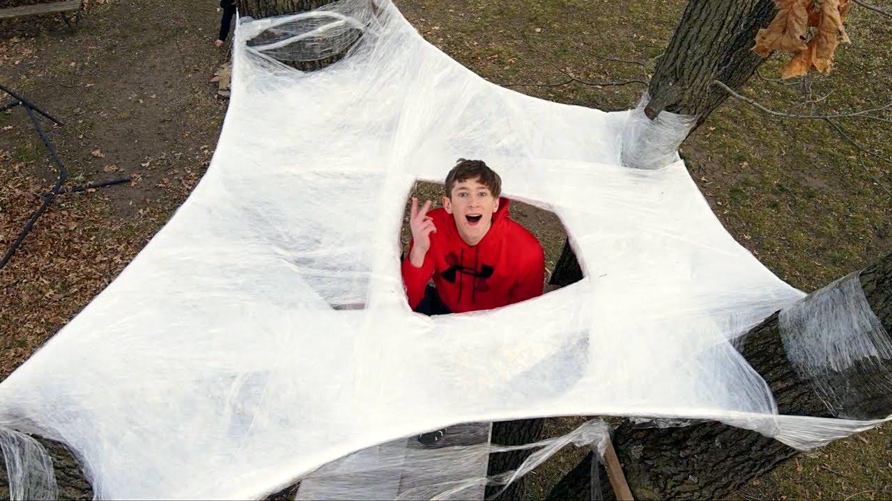 2 Story Saran Wrap Tree House