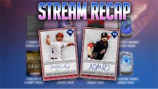 Moments Extreme|Signature Series Teams|98 OVR Andrew Miller|98 OVR Jim Edmonds|97 OVR Torii Hunter|
