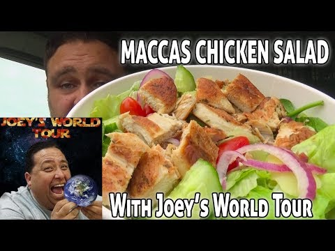 McDonald's Chicken Salad Review With Joeys World Tour  - Healthy Options