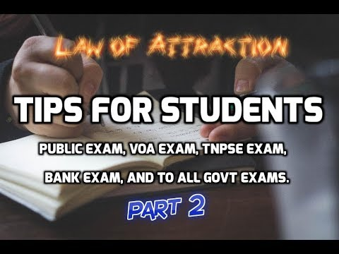 Law of  Attraction tips for students | Part 2 | Tamil