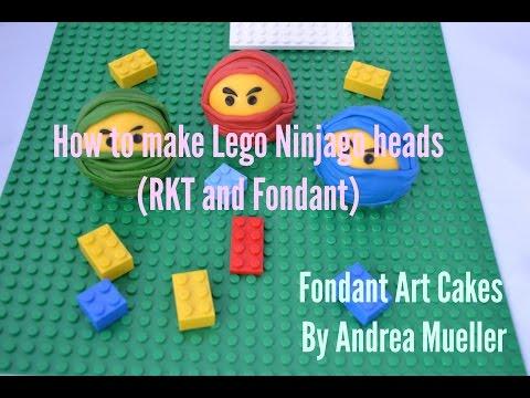 HOW TO MAKE LEGO NINJAGO HEADS IN FONDANT