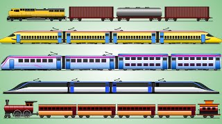 Learning Train | Freight Train | Railway Vehicles for Kids | My Little TV