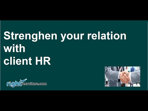 ( rightrecruiters.com ) Improve Relations between Company HR and Recruitment agencies