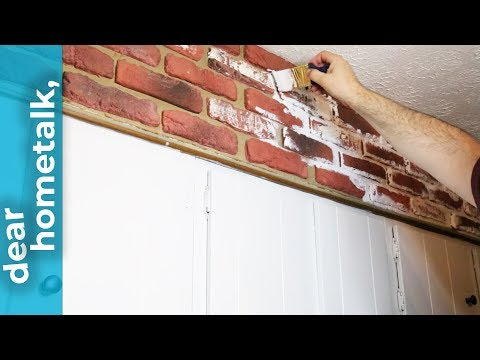 dear hometalk: how can I brighten up my old, dated brick wall?