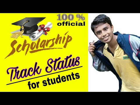 How to check/track status schoolarship?? ..../For students schoolarship from.