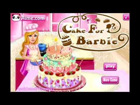 Remarkable Cake For Barbie Game Barbie Cake Decorating Games Cooking Games Funny Birthday Cards Online Eattedamsfinfo