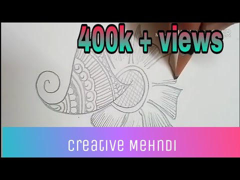 Simple Step By Step Mehndi Designs | With Paper & Pencil