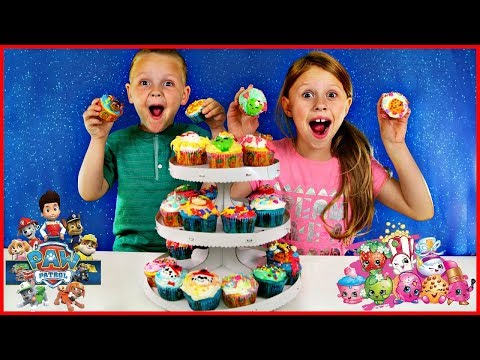 DIY Shopkins Paw Patrol Cupcakes! Decorate Chase Marshall Rubble and Shopkins with The Daya Daily!