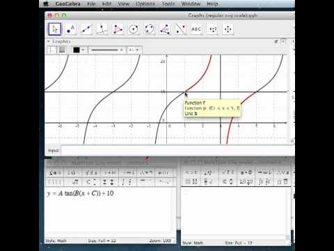 Writing equations for tangent graphs