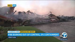 Homes in Ventura burn as Thomas Fire grows | ABC7