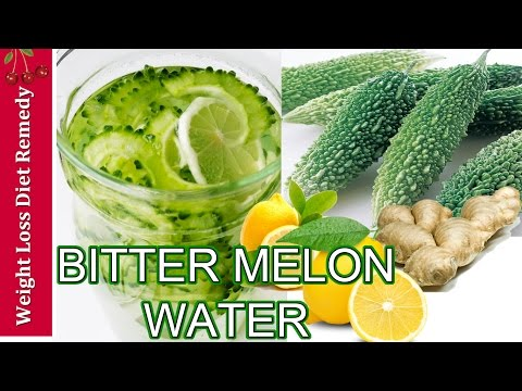 DIABETES BITTER MELON WATER juice smoothie ginger lemon bitter gourd Karela करेला विधि रस ठग